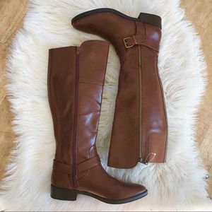 Merona Adaline brown tall riding boots